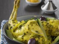 Recette de lapin : tajine de lapin au citron confit et olives